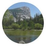 Mirror Lake II in Yosemite National Park Classic Round Sticker