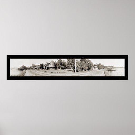 Mirror Lake, NY Drive Photo 1911 Poster
