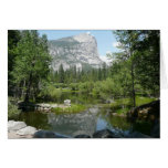 Mirror Lake View in Yosemite National Park Stationery Note Card