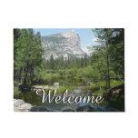Mirror Lake View in Yosemite National Park Doormat