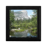 Mirror Lake View in Yosemite National Park Jewelry Box