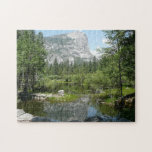 Mirror Lake View in Yosemite National Park Jigsaw Puzzle