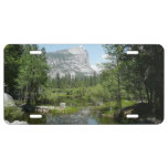 Mirror Lake View in Yosemite National Park License Plate