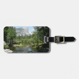 Mirror Lake View in Yosemite National Park Travel Bag Tags
