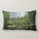 Mirror Lake View in Yosemite National Park Lumbar Pillow