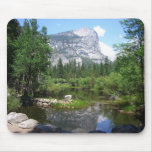 Mirror Lake View in Yosemite National Park Mouse Pad