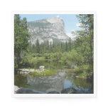 Mirror Lake View in Yosemite National Park Paper Napkin