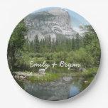 Mirror Lake View in Yosemite National Park Paper Plate