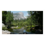Mirror Lake View in Yosemite National Park Poster
