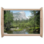 Mirror Lake View in Yosemite National Park Serving Tray