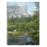 Mirror Lake View in Yosemite National Park Spiral Notebook