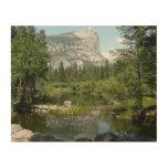 Mirror Lake View in Yosemite National Park Wood Wall Art