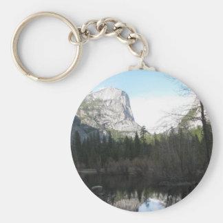 Mirror Lake - Yosemite Basic Round Button Keychain