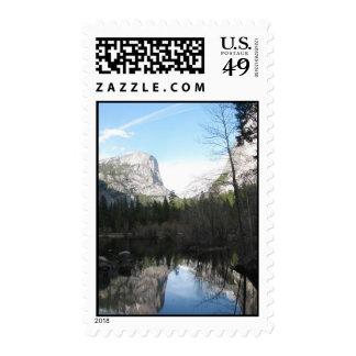 Mirror Lake - Yosemite Postage Stamp