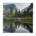 Mirror Lake, Yosemite Small Square Tile