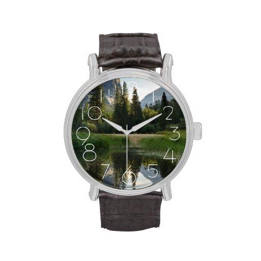 Mirror Lake, Yosemite Wrist Watches