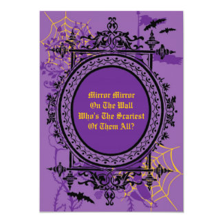 Mirror Mirror Halloween InvitationInvitation Card