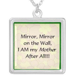 Mirror Mirror Square Pendant Necklace