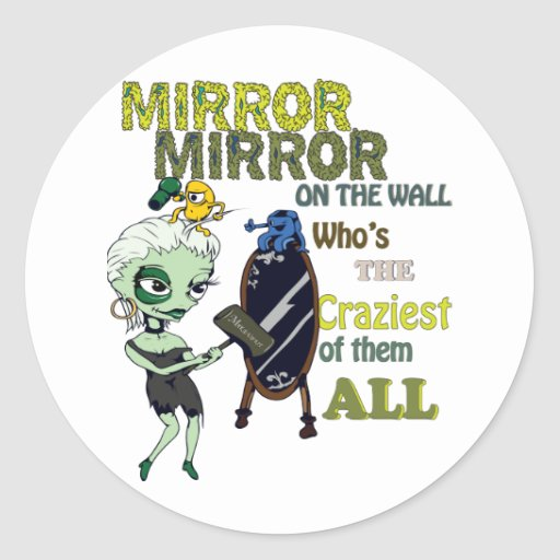 mirror mirror on the wall sticker zazzle