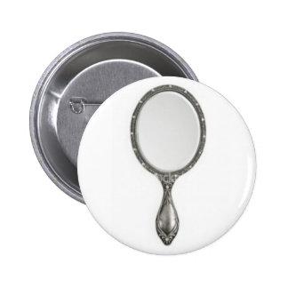 mirror, mirror pinback button