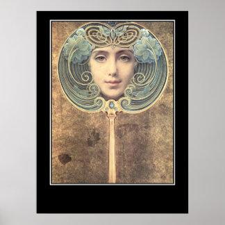 Mirror Mirror Vintage Poster