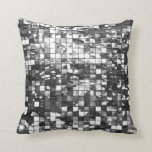 Mirror Mosaic Effect Abstract Throw Pillow