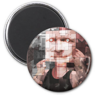 Mirror On The Wall 2 Inch Round Magnet
