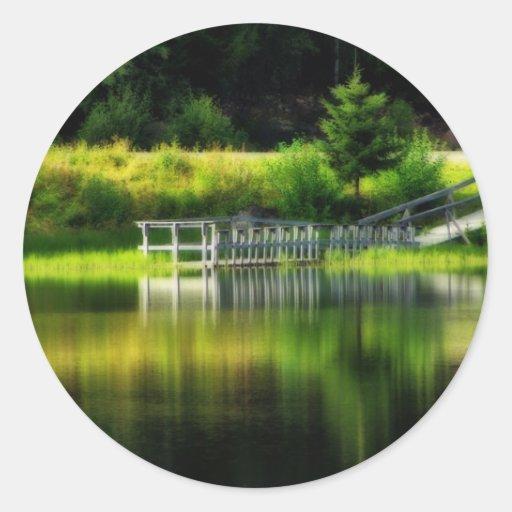 Mirror Pond Classic Round Sticker