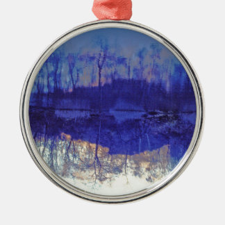 Mirror Pond in The Berkshires.jpg Metal Ornament