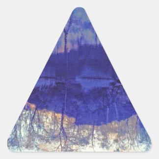 Mirror Pond in The Berkshires.jpg Triangle Sticker
