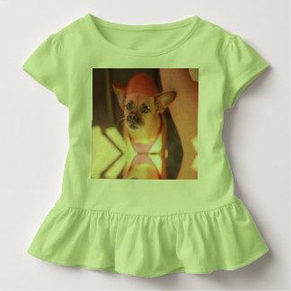 mirror reflection chihuahua close up outside toddler t-shirt