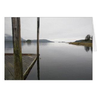 Mirror reflection Funter Bay, Alaska Greeting Cards