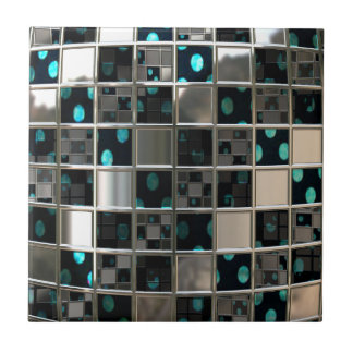 Mirror Reflective Polka Dots Ceramic Tile
