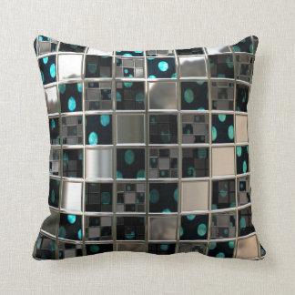 Mirror Reflective Polka Dots Pattern Throw Pillow