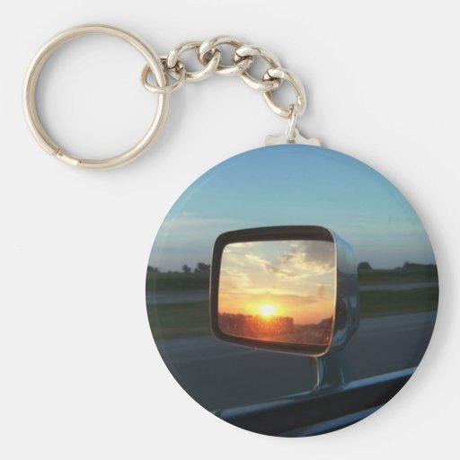 Mirror Sunrise Key Chain