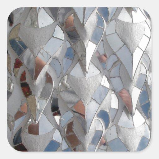 Mirror tiles White Temple, Chiang Rai Stickers