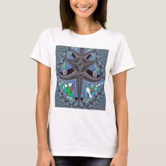 Mirror Tulips Fractal Art T-Shirt