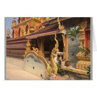 Mirror Wat in Chiang Mai, Thailand Card