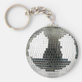 Mirrorball Disco Ball Basic Round Button Keychain