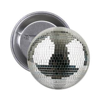 Mirrorball Disco Ball Pinback Button