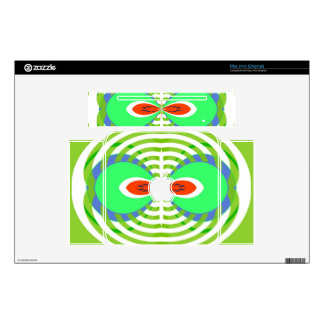 Mirrored abstract design decals for mac mini