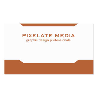 Mirrored angle pattern burnt orange professional business card