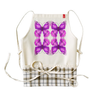 Mirrored Awareness Butterflies Zazzle HEART Apron