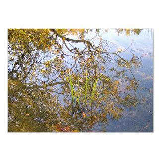 Mirrored Branches 5x7 Paper Invitation Card