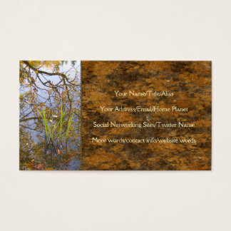 Mirrored Branches Business Card