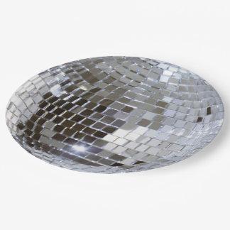 Mirrored Disco Ball 1 Paper Plate