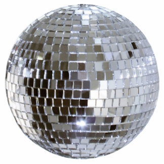 Mirrored Disco Ball 1 Pin Cutout