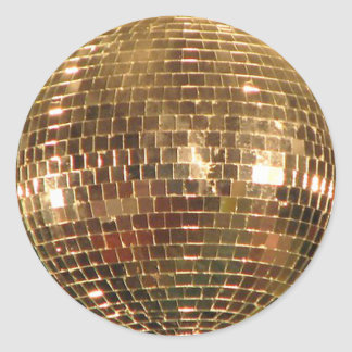 Mirrored Disco Ball 2 Classic Round Sticker
