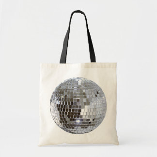 Mirrored Disco Ball Budget Canvas Bags