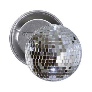 Mirrored Disco Ball 2 Inch Round Button